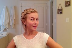 Julianne Hough's bedhead braid tutorial! ❤️️ perfect for short hair!
