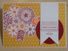 Blumige Geburtstagskarte