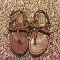 Steve Madden sandals size 6 Worn a lot, but still in great condition Steve Madden Shoes Sandals