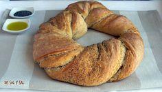 De sol y sal: Rosca de pan enrollado