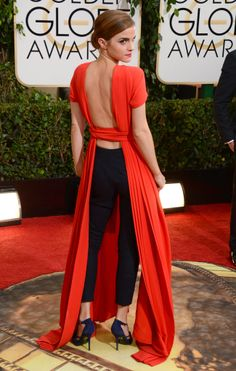 I mean, seriously, i wanna be her when i grow up Emma Watson. 2014 Globes.
