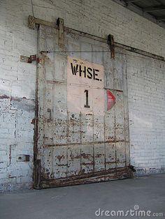 set dressing old garage barn industerial - Google-søk · Warehouse DesignSliding DoorsThe ... & The original warehouse entrance door   Warehouse 7 Gym   Pinterest ...