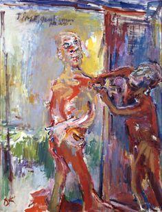 Oskar Kokoschka, Time, Gentlemen Please, 1971/ 1972, Oil on canvas, 130 x 100 cm, Tate Gallery, London