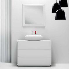 Black and White Bathroom Interior Design Collection-Marcel Wanders Designs Bisazza Bagno Bathroom Vanity Units, Bathroom Furniture, Bathroom Storage, Vanity Mirrors, Bathroom Ideas, Pop Design, White Minimalist Bathrooms, White Bathroom Interior, Modern Bathroom Accessories