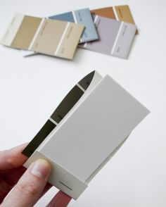 Cute paint chip notepads... perfect to keep in my purse!