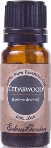 Cedarwood 100% Pure Therapeutic Grade Essential Oil- 10 ml by Edens Garden. $3.50. * Botanical Name: Cedarus deodora * Plant Part: Wood * Extraction Method: Steam Distillation * Origin: The Himalayas of India * Description: Cedarwood Himalayan is a tall, evergreen tree up to 150 feet high, occasionally more. It grows extensively on the slopes of the Himalayas in northern India, Pakistan and Afghanistan. * Color: Pale yellow green * Common Uses: Antiseptic, anti putr...