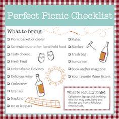 Perfect Picnic Checklist | Wine Sisterhood Blog