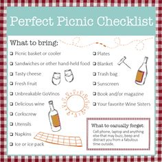 Perfect Picnic Checklist   Wine Sisterhood Blog