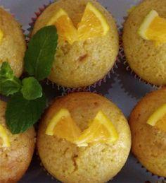 Cupcake saudável de laranja
