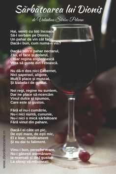Poezii romanesti, poezii despre vin, poezii de sarbatoarea vinului, Sarbatoarea lui Dionis, poezii de Valentina Sarbu-Pelivan Red Wine, Alcoholic Drinks, Glass, Google, Drinkware, Corning Glass, Liquor Drinks, Alcoholic Beverages, Liquor