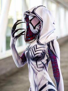 Badass Spider-Gwen and Venom Cosplay Mashup - Gwenom — GeekTyrant Marvel Dc, Spiderman Marvel, Avengers, Spiderman Cosplay, Amazing Cosplay, Best Cosplay, Dc Cosplay, Polaris Marvel, Spider Gwen Cosplay
