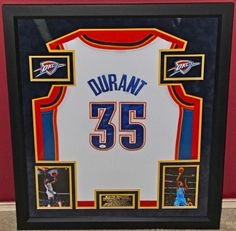 Kevin Durant signed OKC Thunder Jersey Dallas Mavericks, Kevin Durant, Thunder, Nba, Sports, Hs Sports, Sport