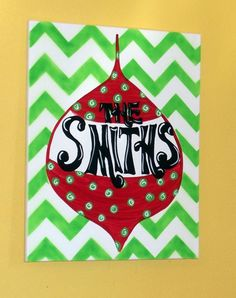 Whimsical Monogram/ Family Name Christmas Canvas by BoogIdeas, $25.00