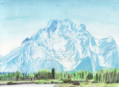 Landscape Drawing - Grand Tetons by EyeoftheDragon237.deviantart.com