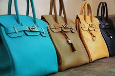 Pretty little Birkins all in a row <3  I died!