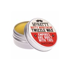 Mr Natty Mustache Twizzle Wax: A natty little tin to pop in the pocket for emergency moustache twizzling.  -Pocket-sized tin -Provides strong hold  -Dry, matte finish