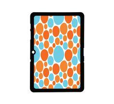Protective Samsung Galaxy 2 (10.1) Case Orange & Blue Dots. $25.00, via Etsy.