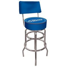 Trademark Bud Light Blue Padded Bar Stool with Back