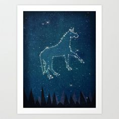 Constellation Unicorn Art Print by That's So Unicorny - $14.99