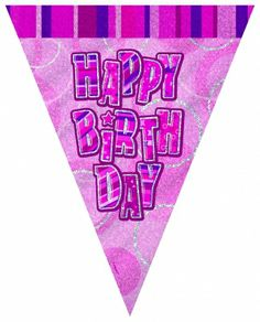 Glitzy Pink Bunting - Girls Birthday Party Themes and Party Supplies Online India