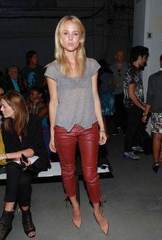 NYFW. Elin Kling attends Derek Lam Spring/Summer 2013 fashion show.