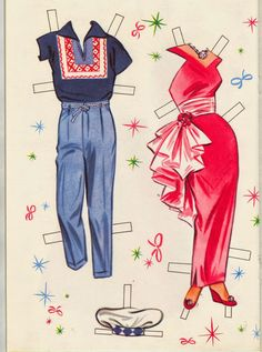 Bonecas de Papel: Sherry and Jerry - 1963 * 1500 free paper dolls Christmas gifts artist Arielle Gabriels The International Paper Doll Society also free paper dolls The China Adventures of Arielle Gabriel *