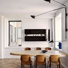 + #dining #meeting #herringbone #birch #art | Zora Lighting