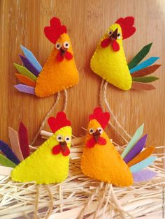 New 2017 handmade.  Fair Masters - handmade.  Buy Merry Gallic roosters.  The symbol of the year .. Handmade.  Combined
