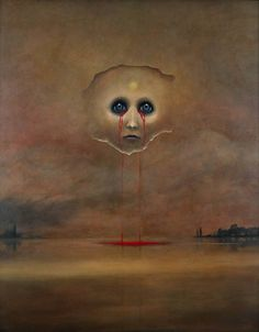 Untitled - Zdislav Beksinski this is awesome and very creepy all at once Art Inspo, Inspiration Art, Creepy Art, Weird Art, Dark Fantasy Art, Arte Horror, Horror Art, Art Et Illustration, Illustrations