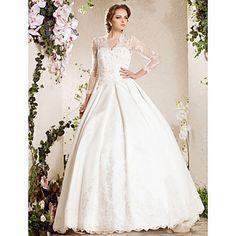 Vestido de Casamento em Cetim com Baínha de Capela (Inspirado em Kate Middleton) – EUR € 593.12