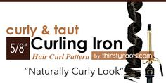5/8 inch Curling Iron Curl Sizes