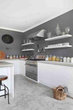 Tendance Cuisine Exemples Avec La Couleur Grise Cuisine - Deco cuisine gris pour idees de deco de cuisine