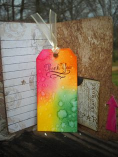 Inside of my File Folder Card, I made with the Word Window Punch. The tutorial is on my blog.