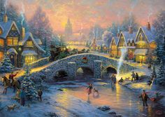 """LOVE this Large collection of absolutely beautiful Thomas Kinkade Puzzles! If you're a fan of the art of """"The Painter of Light"""" Thomas Kinkade these jigsaw puzzles for adults are a must have for anyone who is an avid jigsaw puzzle enthusiast. You'll find Thomas Kinkade puzzles from 300 pieces all the way to 2000 pieces."""