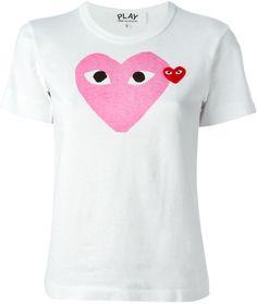 Comme Des Garçons Play T-Shirt À Coeur Imprimé