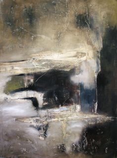'Absence' by American artist Jeane Myers. Oil & cold wax on panel, 40 x 30 in. via the artist's site