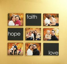 Faith Hope Love, Canvas wall art.... Another amazing home decor project from Craft Warehouse. Directions on their blog!