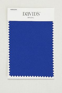 David's Bridal Horizon Blue. This is satin swatch for flower girl sashes, grooms men's ties. Bridesmaids will have same color but in chiffon F15555.