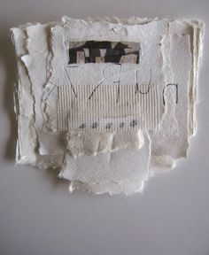 """all you have to do is ask"" found paper, hand made paper, dry wall mesh, graphite   judy corlett"
