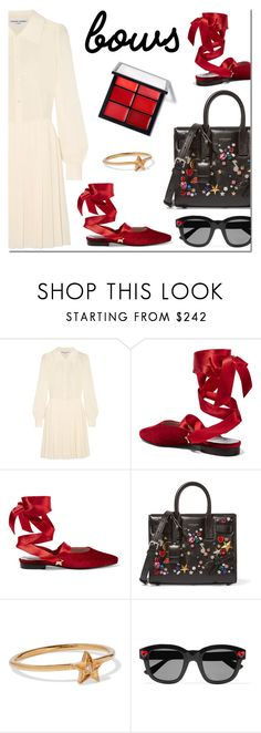 """Put a Bow on It!"" by danielle-487 ❤ liked on Polyvore featuring Sonia Rykiel, MR by Man Repeller, Yves Saint Laurent, IaM by Ileana Makri and bows"