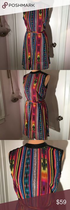 La Femme New York Sleeveless Striped Dress In great pre-owned condition. No rips,stains, or pilling.  No trades or try ons.  Smoke free, dog friendly home.  Reasonable offers only.  Please specify measurements if you would like them. Shipping prices are firm. La Femme Dresses Midi