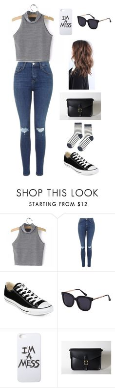 """""""Untitled #127"""" by lghedger ❤ liked on Polyvore featuring Topshop, Converse, LAUREN MOSHI and Accessorize"""