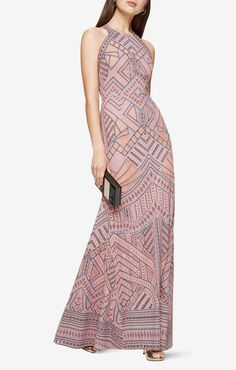 Shop evening gowns and long formal dresses at BCBG. Browse a variety of beautiful gowns that can be worn to any formal occasion. Steal the show in BCBG's evening gowns! Rose Print Dress, Pink Dress, Dress Up, White Dress, Nice Dresses, Casual Dresses, Fashion Dresses, Formal Dresses, Amazing Dresses