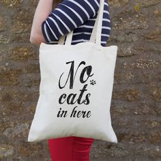 No Cats In Here Bag @notonthehighst