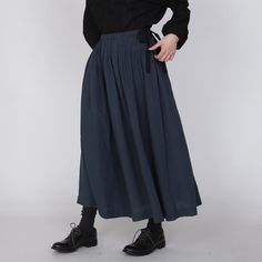 [Envelope online shop] Jouan/Gray Lisette Bottoms Viscose and Linen Skirt Fabric from Italy Made in Japan