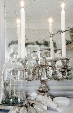So beautiful! I love silver and white decorations.