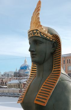 Egyptian Bridge, St. Petersburg, Russia