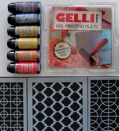 New Gelli Arts Blog: Video Tutorial and Giveaway! Our fabulous prize package includes:    One (1) 6x6 Gelli Printing Plate   Three (3) 6x6 stencils by StencilGirl AND six (6) bottles of Distress Stain by Ranger!  One lucky winner will be chosen at random on Wednesday - April 22nd and announced here on the blog — and on our Facebook page.