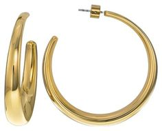 Michael Kors Stainless Steel Gold Tone Open Hoop Earrings MKJ3654. Get the lowest price on Michael Kors Stainless Steel Gold Tone Open Hoop Earrings MKJ3654 and other fabulous designer clothing and accessories! Shop Tradesy now