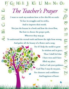 Items similar to Teacher's Prayer- Teacher Gift- Wall Art - Print on Etsy Teacher Devotions, Teacher Prayer, School Prayer, Prayer For Teachers, Classroom Prayer, Classroom Ideas, Teacher Appreciation Poems, Teacher Poems, Being A Teacher Quotes
